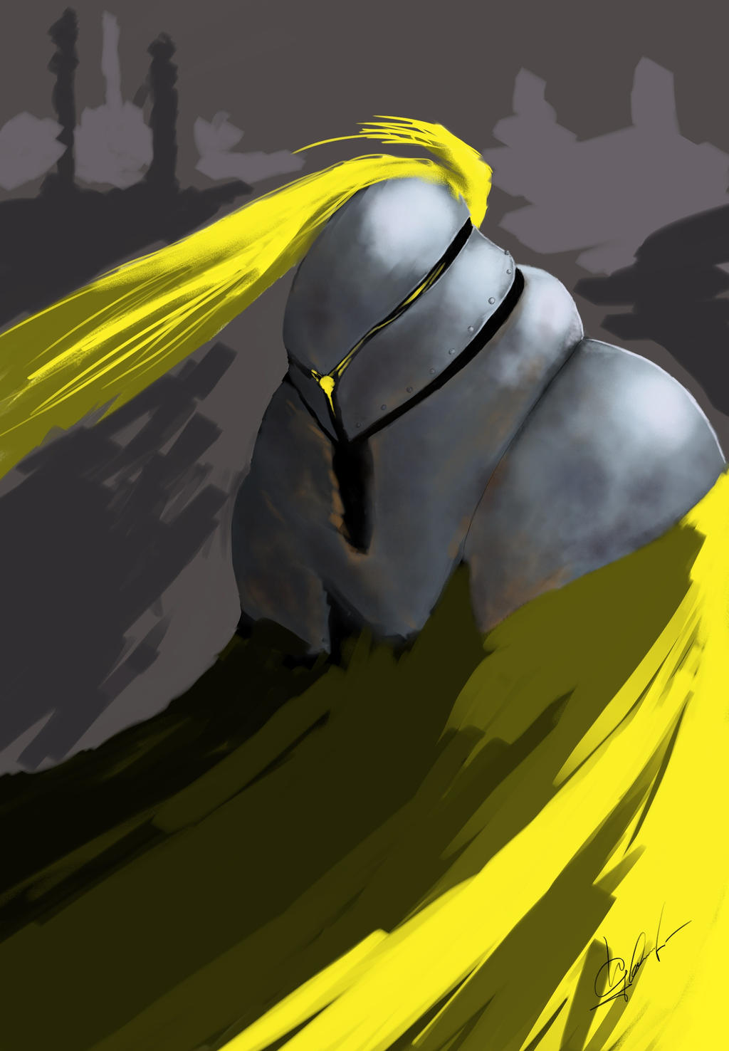 WIP yellow knight by igasoris