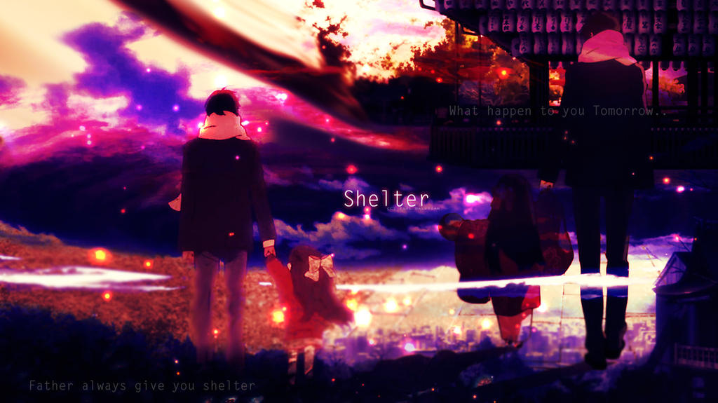 Shelter Anime Background Wallpaper QUotes by isaldalvizar
