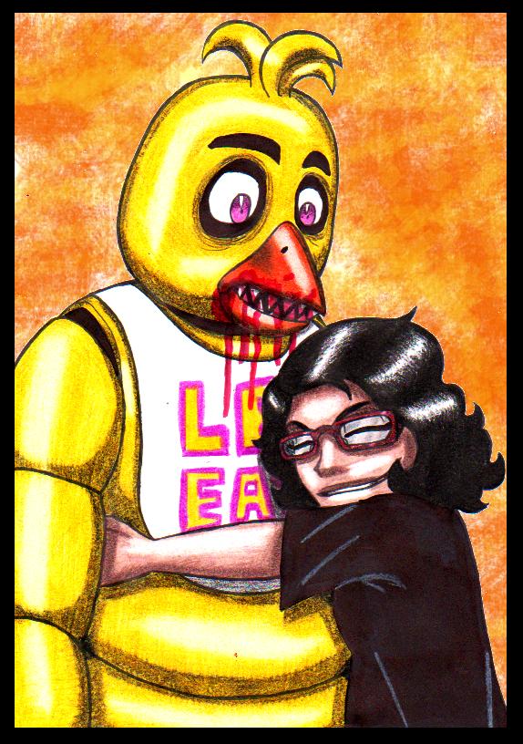 A hug for Chica by tehcreechibi