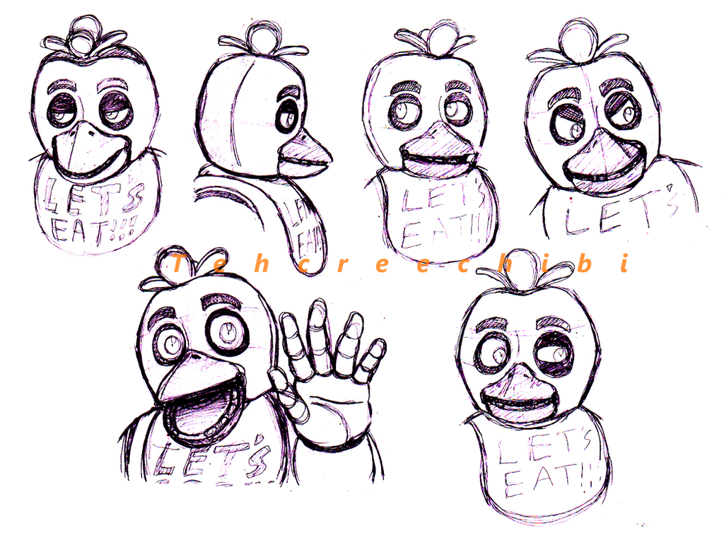 Chica sketches by tehcreechibi