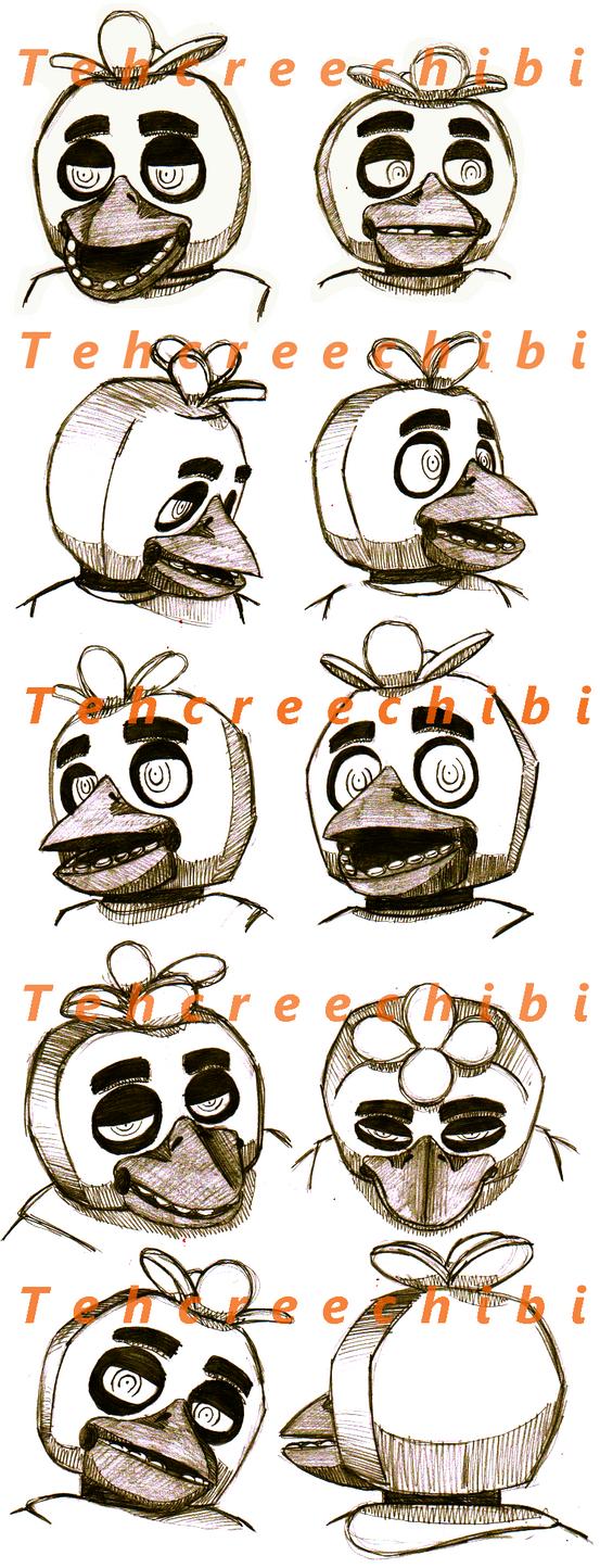 Chica expressions sketch 1 by tehcreechibi