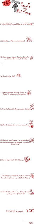 Cruel's Yaoi Art Meme BLANK