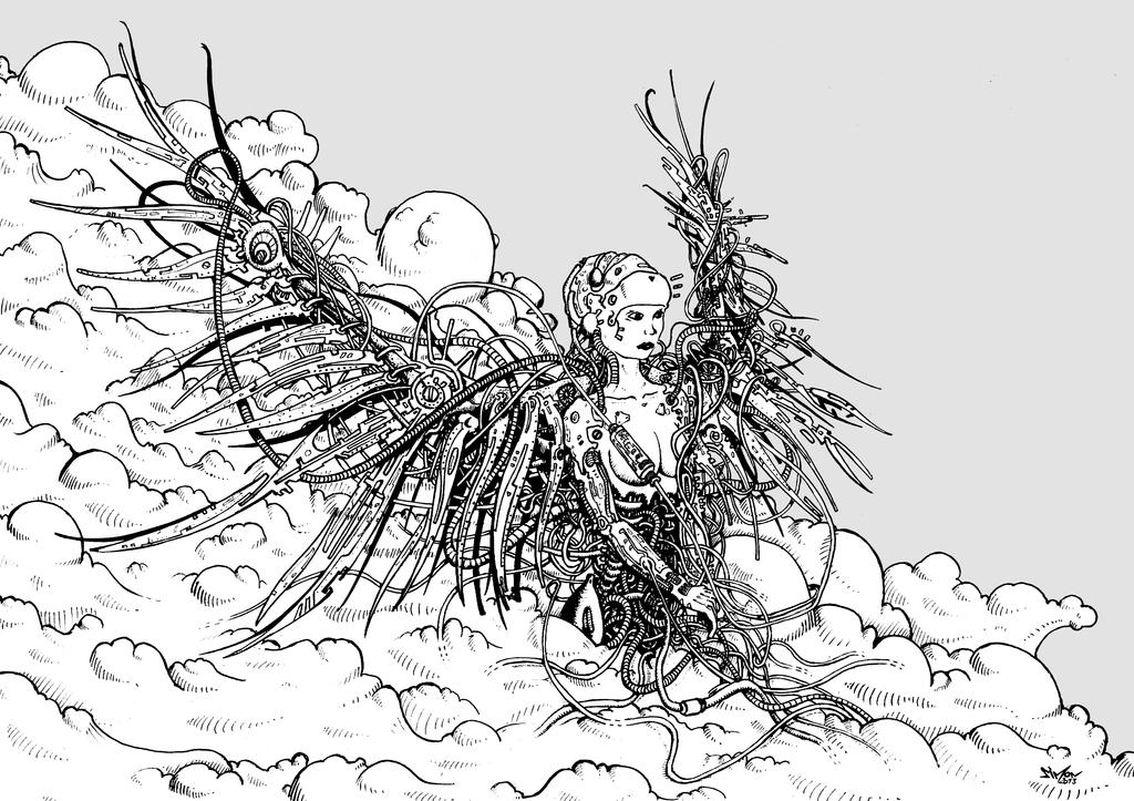 Cyborg Angel by Vonkor
