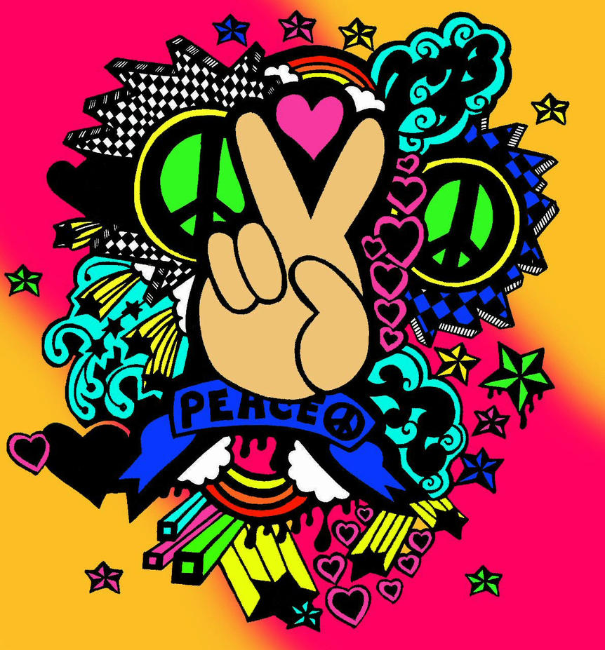 peace color by the pink ranger on deviantart
