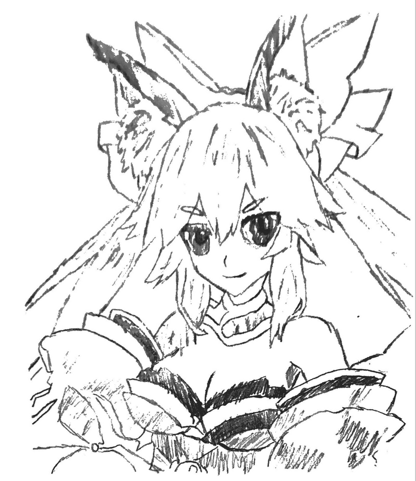 Picture 15 - Tamamo no Mae - Trace by drawing-archive