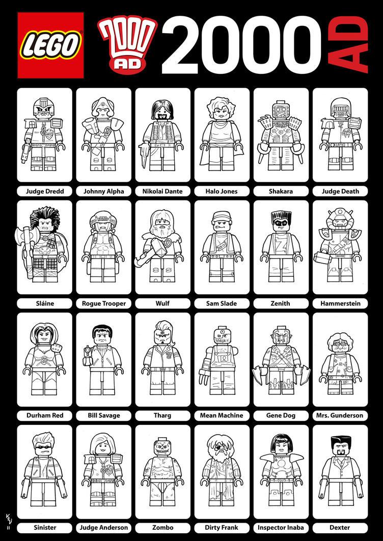 2000ad Lego by KevLev