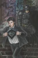 Batman And Clark by HeroArtist20