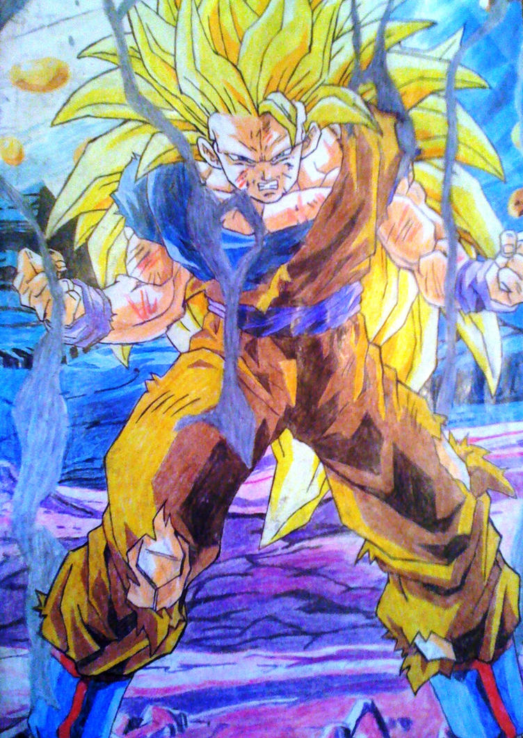 Super Saiyan 3 Goku By HeroArtist20