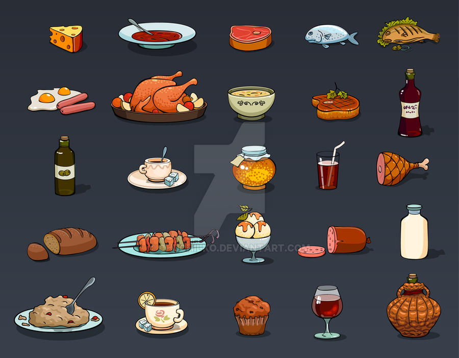 Icons Food by Chuchilko