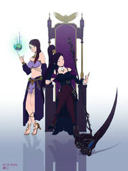 Sorceress and Witch Duo Commission