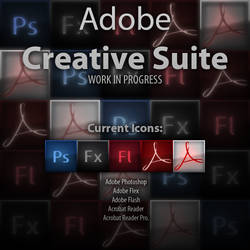 Adobe Creative Suite Icons WIP by chaosdragon11590