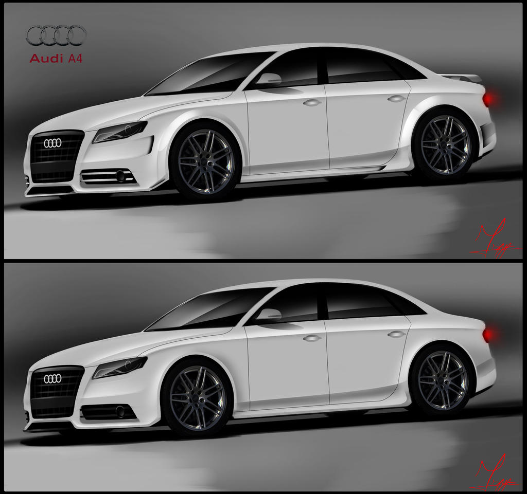 audi a4 tuning by ispydesign on deviantart. Black Bedroom Furniture Sets. Home Design Ideas