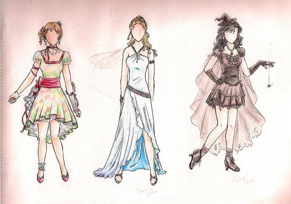 Female Outfits 2 by Kanoelani