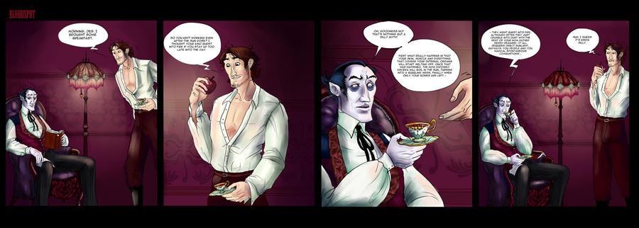 Vampire comic strips