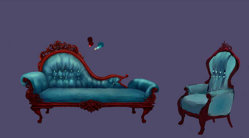 Chaise longue by porrie on deviantart for Art nouveau chaise longue