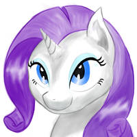 Just Rarity by MartinHello