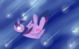 Twilight and falling stars by MartinHello