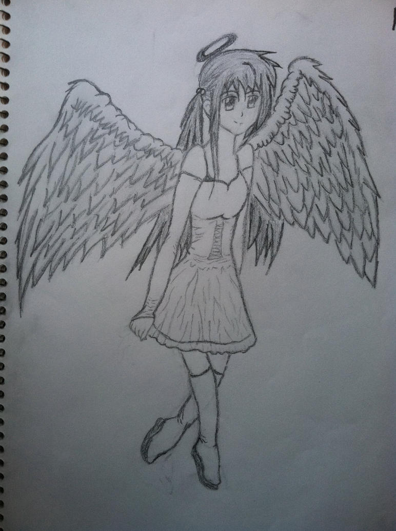 Anime Angel Girl RQ By Coraline Dark