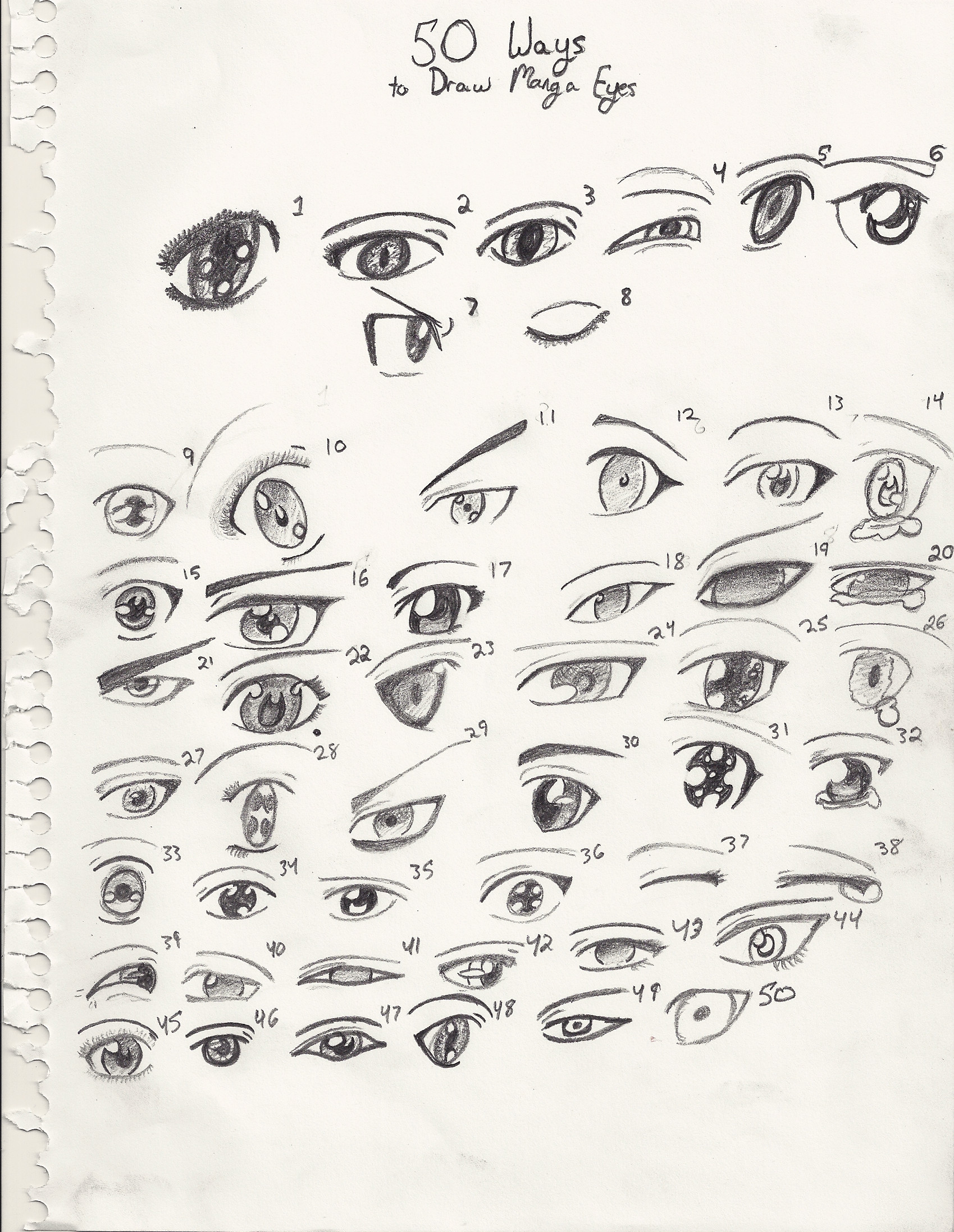 50 Ways To Draw Manga Eyes By Coraline Dark On Deviantart