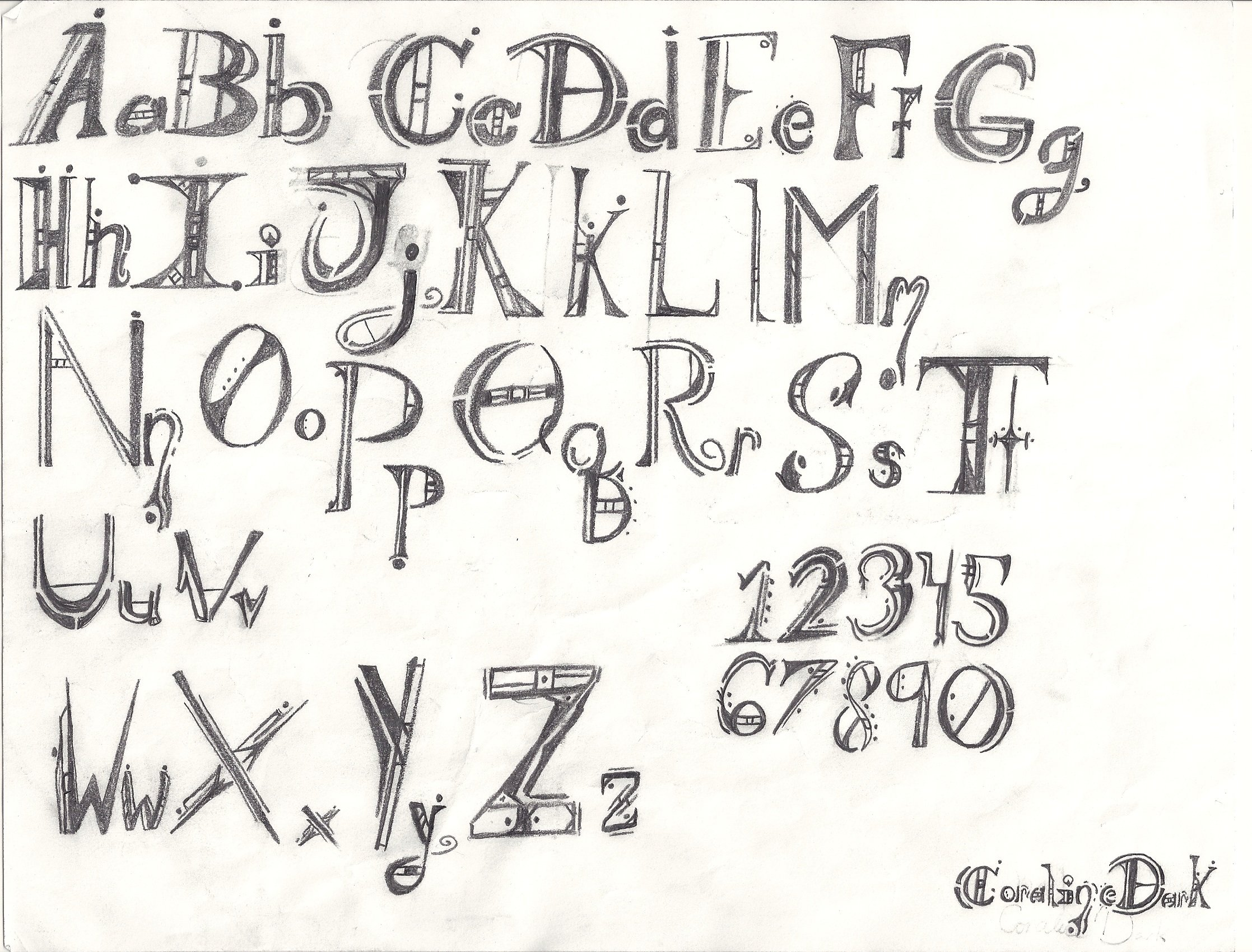 Fun With Letters Font Type Debellious By Coraline Dark On DeviantArt