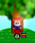 Reading by the Tree by katiekane822