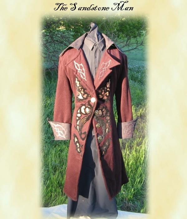 Deep Garnet wool frockcoat by TheSandstoneMan