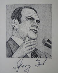Gerald Ford - Portrait with signature by RunaLon
