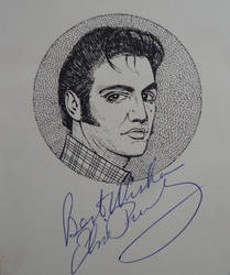 Elvis Presley - Portrait with signature by RunaLon