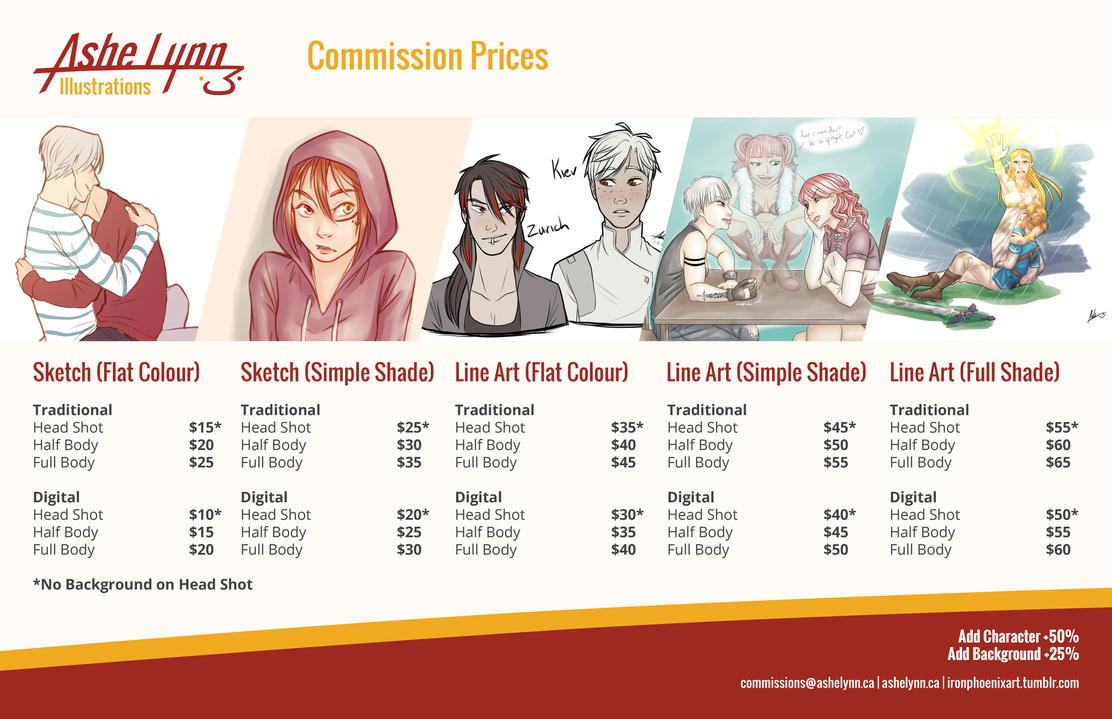 Commission Prices by The7thMuse