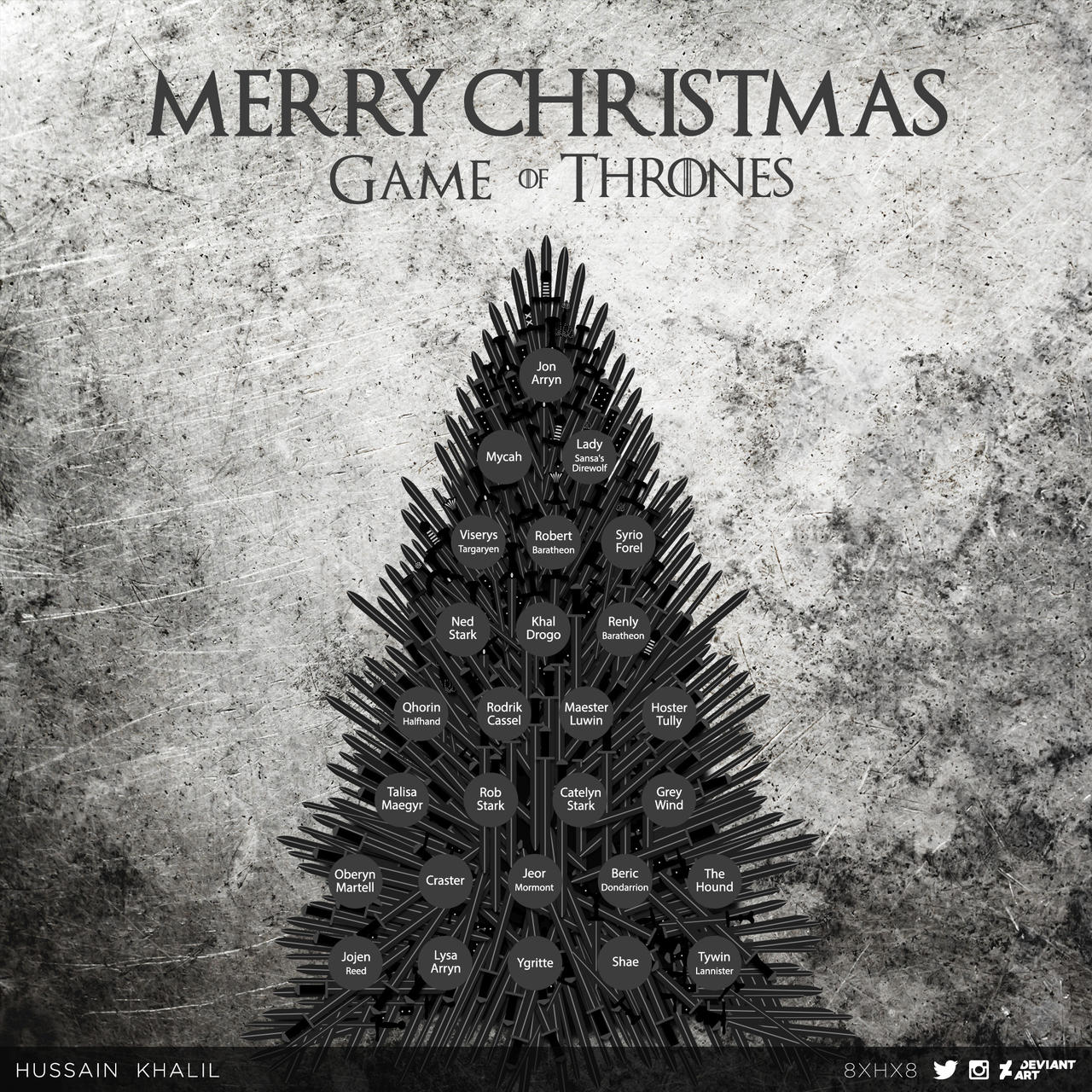 Game Of Thrones Throne Wallpaper: Merry-Christmas-Game-of-Thrones By 8xhx8 On DeviantArt