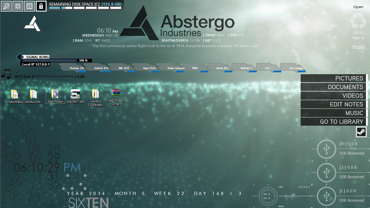 how to add rainmeter skins to your desktop