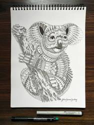 Koala Bear In Mandala Style by JuliusRamosBantog