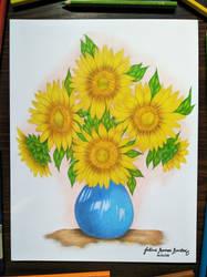 Still Life: Sunflowers by JuliusRamosBantog