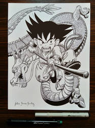 #INKtober 2018: Son Goku And Shenron The Dragon by JuliusRamosBantog