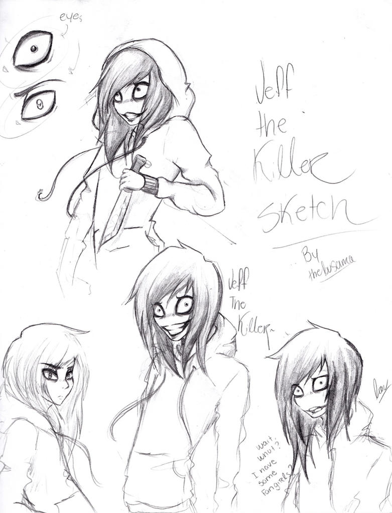 Jeff the killer- Doodles by TheLouSama