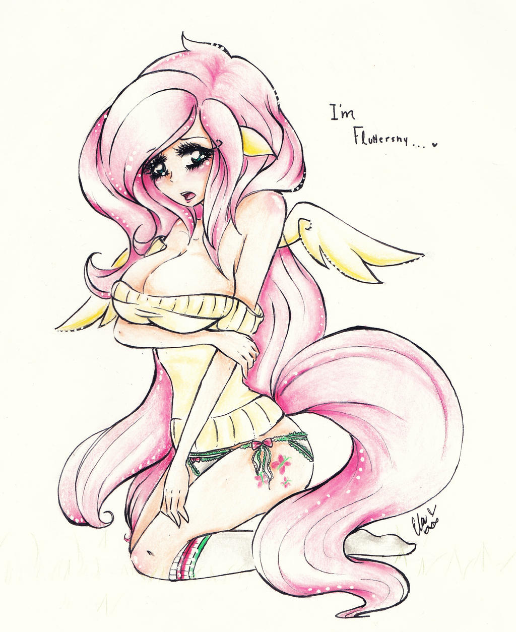 I'm Fluttershy ... by TheLouSama