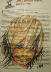 Takeru at the newspaper by kenyasakura2003