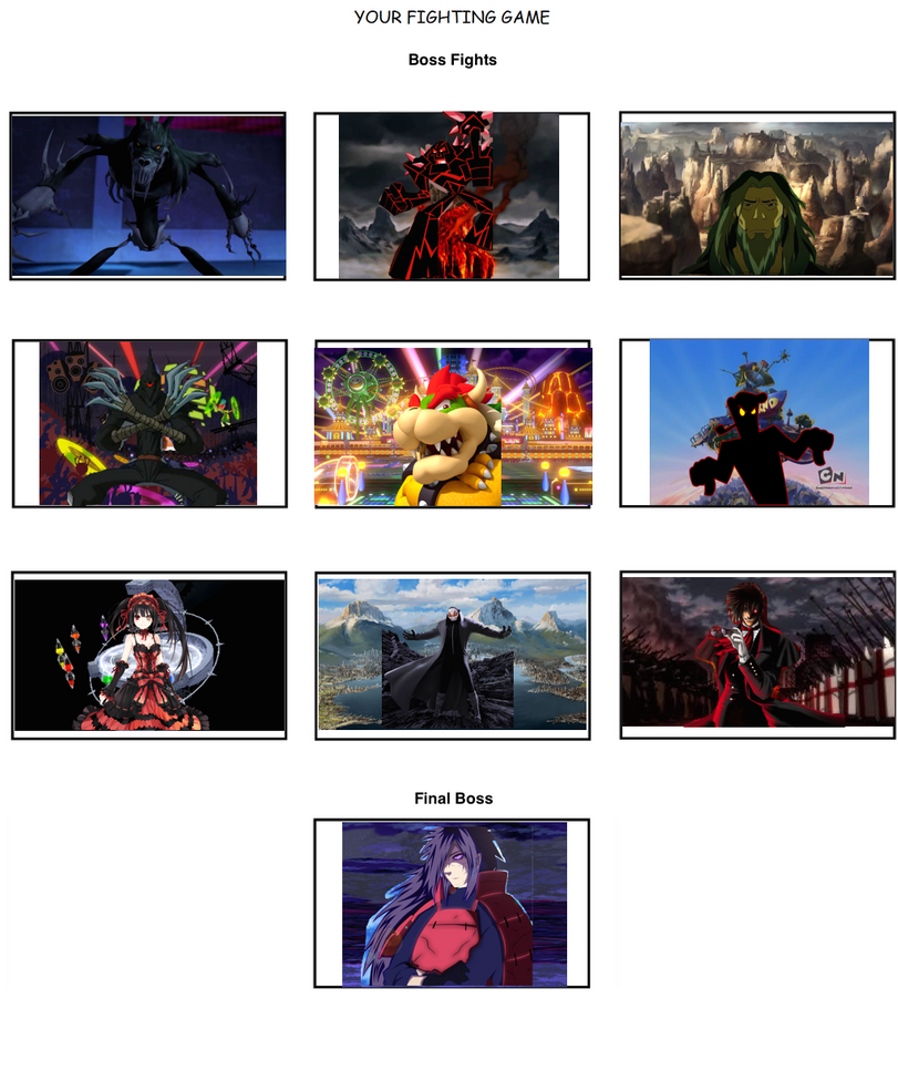 Fighting Game Template Meme (Part 3) By FlameKnight219 On
