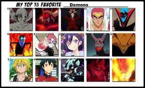 Top 15 Favorite Demons