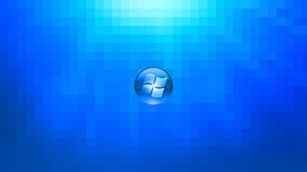 Windows 7 Logo PiXel Wallpaper by vuvuzelahero