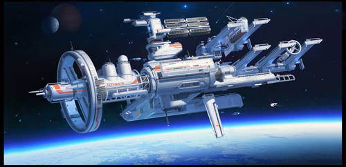 Orbital space shipyard by TCHI