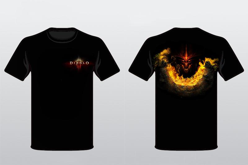 Diablo 3 T-shirt version 1 by alymunibari