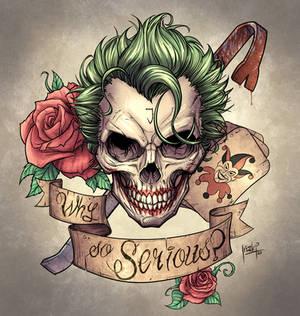 Joker skull design