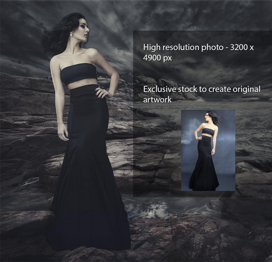 Exclusive Black Dress Stock by pelleron