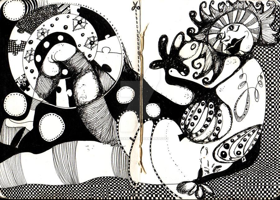 Maja black and white by luisabigail