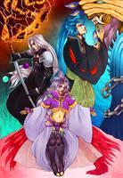 Final Fantasy Trio by lokelani