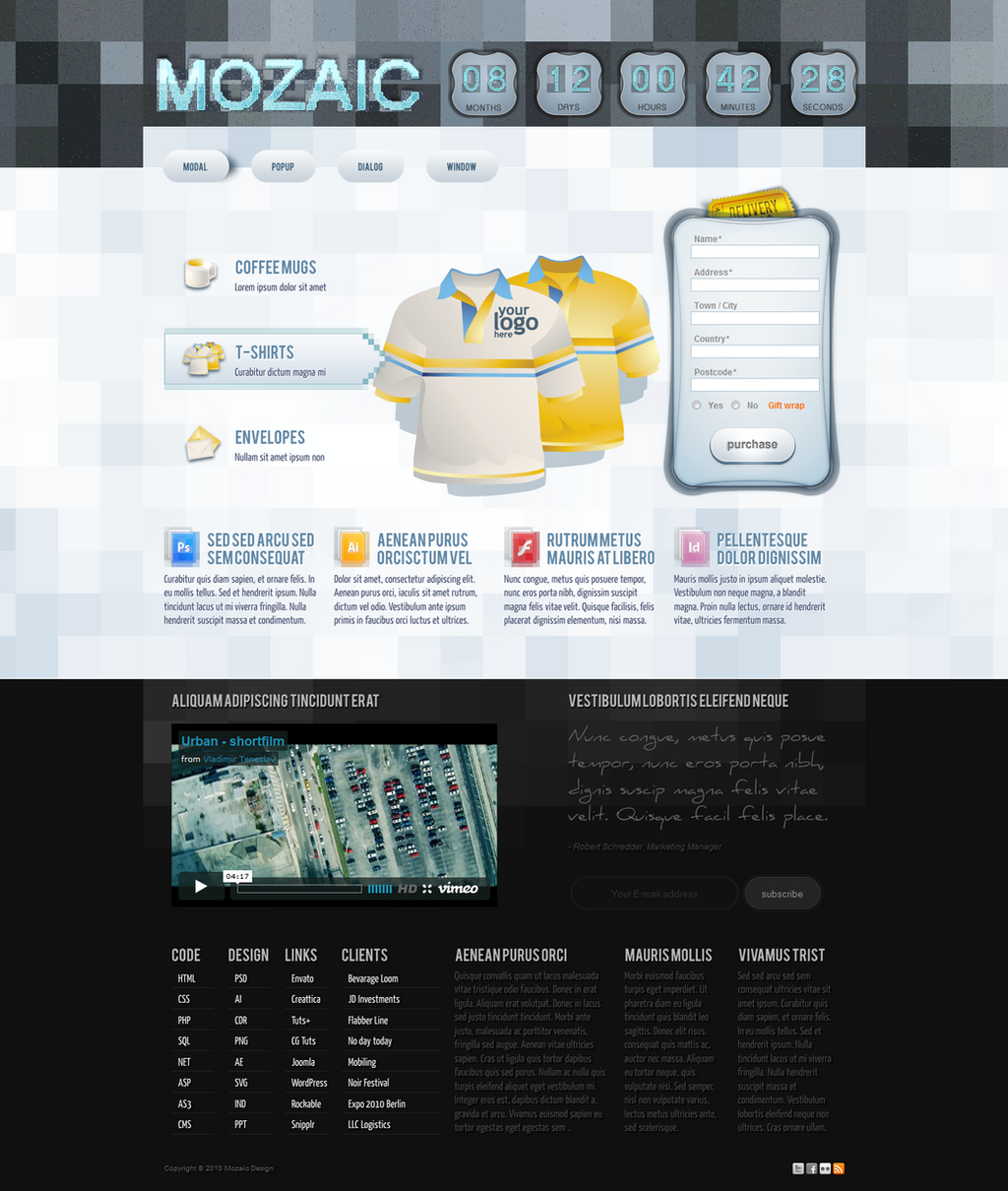 Free PSD Landing Page Template by reADactor on DeviantArt