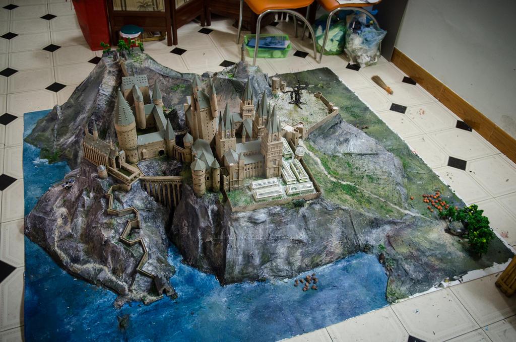 Hogwarts_model_done by linhtwinkle