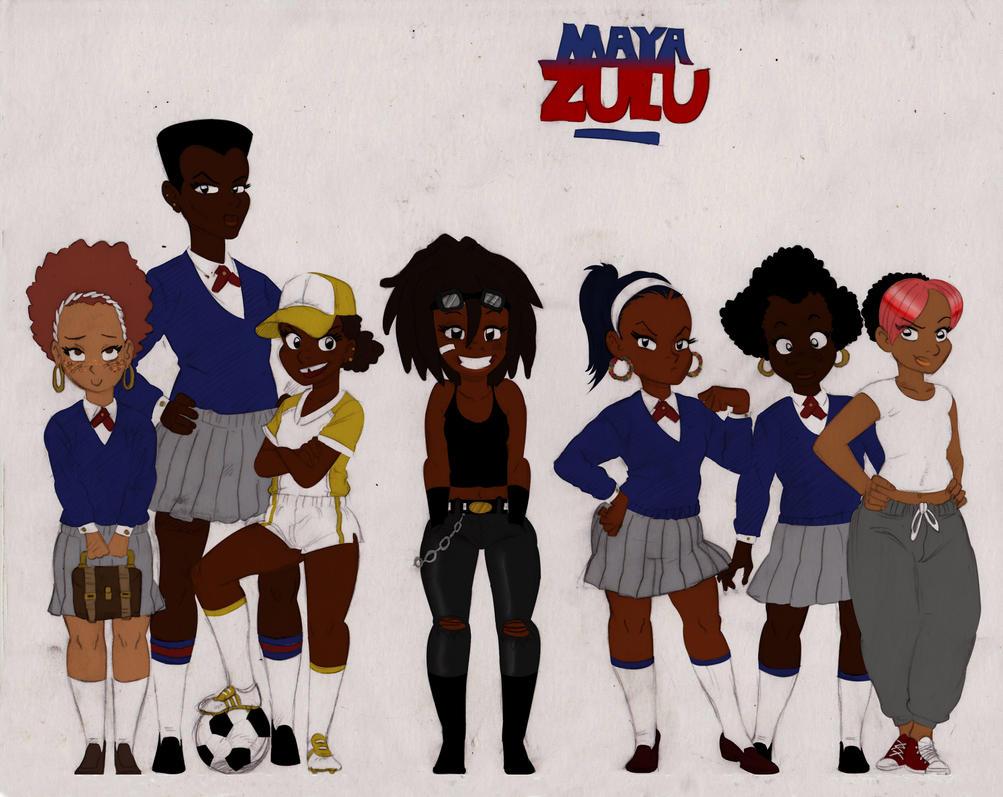 MZ the girls color 2 by Rasheedzee