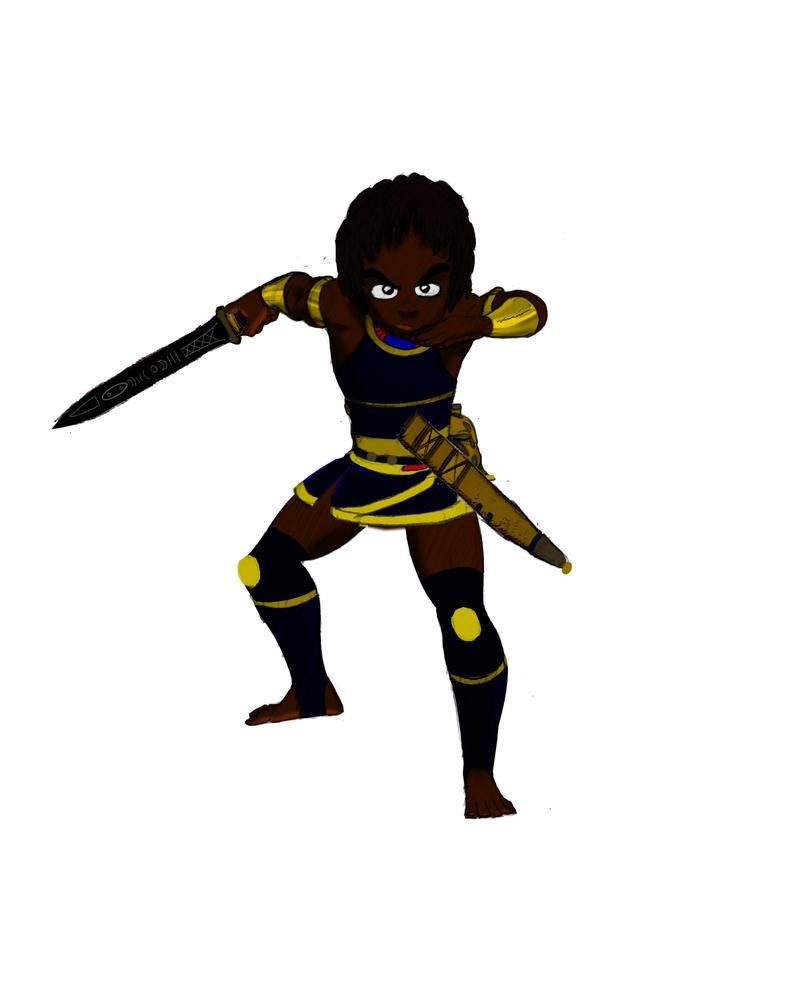 the boy with the blade by Rasheedzee